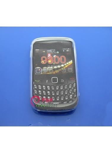 Samsung Blackberry 9300 3G Şeffaf Silikon Kılıf - Beyaz Renkli